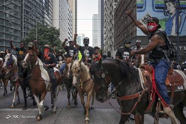 اعتراض به قتل جورج فلوید در مرکز شهر هوستون، تگزاس