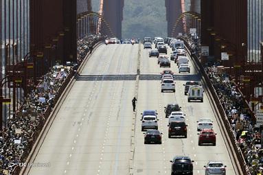 هزاران تظاهرکننده در جریان اعتراض به نابرابری نژادی در سان فرانسیسکو، کالیفرنیا