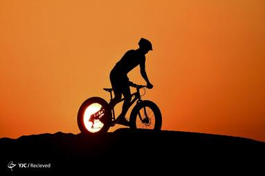 دوچرخه سواری در صحرای القدره، در امارات