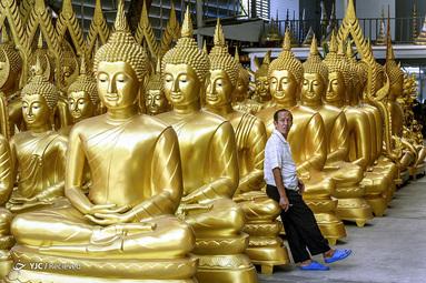 مغازه فروش چهره های مذهبی بودایی در بانکوک