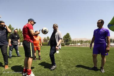 تمرین تیم فوتبال رسانه ورزش
