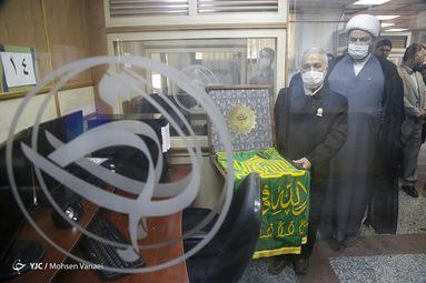حضور پرچم مضجع شریف امام رضا در باشگاه