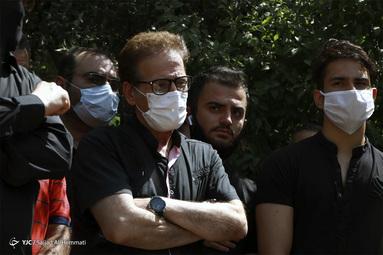 ابولفضل پورعرب در مراسم تشییع پیکر سیروس گرجستانی