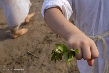 مراسم غسل تعمید کودکان مندایی در اهواز