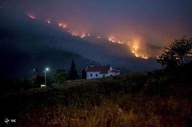 آتش سوزی در واله دا کوبا در نزدیکی روستای ایسنا، کاستلو برانکو، پرتغال