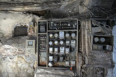 سیم های برق و بالا بردن خطر آتش سوزی هنگام زلزله - محله عودلاجان