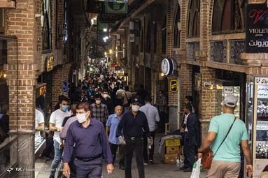 مراکز پر تردد که تراکم جمعیت در آن ها زیاد است. بازار تهران
