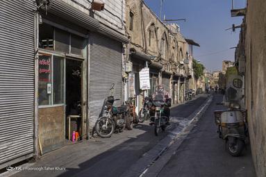بافت فرسوده و محل تردد و کسب و کار مردم - پامنار