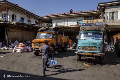 بافت فرسوده و محل تردد و کسب و کار مردم - محله شوش