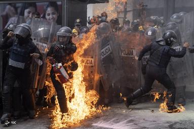 اعتراضات در مكزیكو سیتی