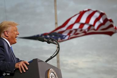 سخنرانی دونالد ترامپ، رئیس جمهور آمریکا در فرودگاه سیسیل در جکسونویل، فلوریدا