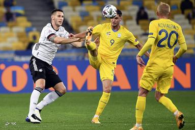 لیگ ملتهای اروپا / اوکراین ۱ - آلمان ۲
