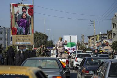 تشییع و خاکسپاری پیکر شهید مدافع حرم محمد بلباسی - قائمشهر