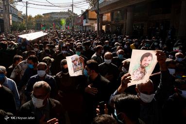 تشییع و خاکسپاری پیکر شهید مدافع حرم «محمود رادمهر» - ساری