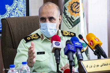 سردار رحیمی، فرمانده انتظامی تهران بزرگ در جلسه مشترک ستاد مقابله با کرونا تهران