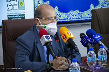 علیرضا زالی، فرمانده ستاد مقابله با کرونا تهران در جلسه مشترک ستاد مقابله با کرونا تهران