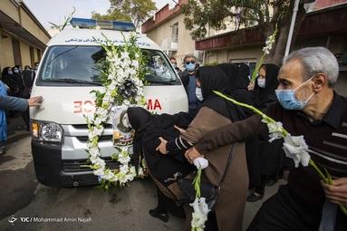 تشییع دومین شهید مدافع سلامت - همدان