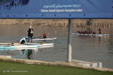 لیگ برتر قایقرانی روئینگ بانوان در مسافت 1000 و 500 متر -  دریاچه ورزشگاه آزادی