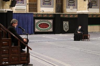 نخستین شب مراسم عزاداری ایام شهادت حضرت فاطمهزهرا (س) با حضور رهبر انقلاب
