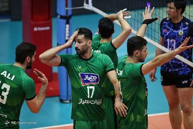 لیگ برتر والیبال/ شهداب یزد 1 - لبنیات آمل 3